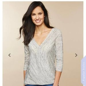 Jessica Simpson Nursing Top Knit 3/4 Sleeve V-Neck
